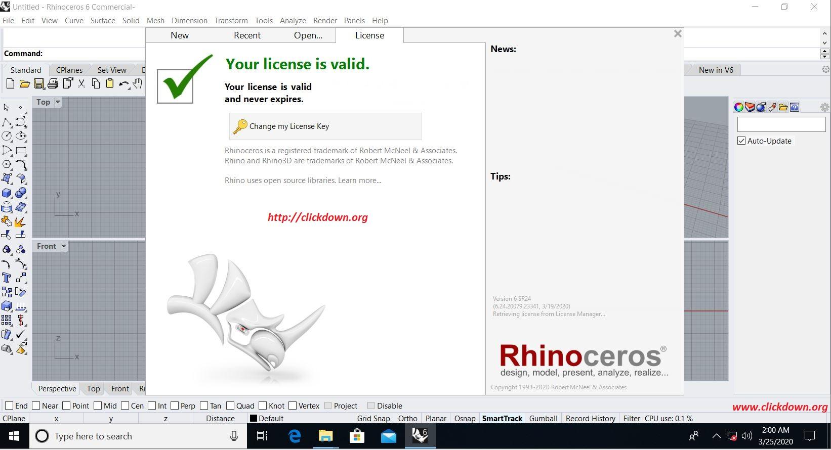 Design with Rhinoceros 6.24 x64 full license
