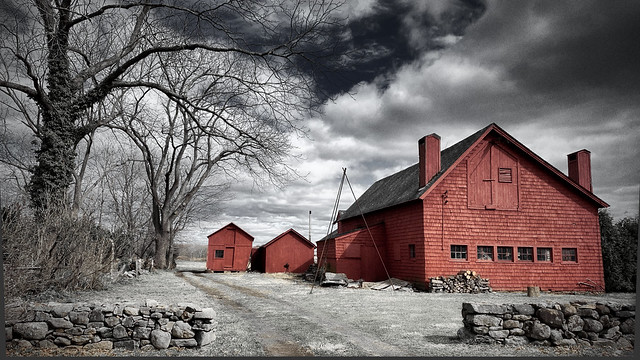 Red Barn in Guilford, CT
