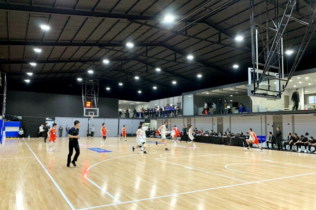 SBL持續在晧宇國際亞洲區籃球培訓中心開打。(倪芝蓉攝)