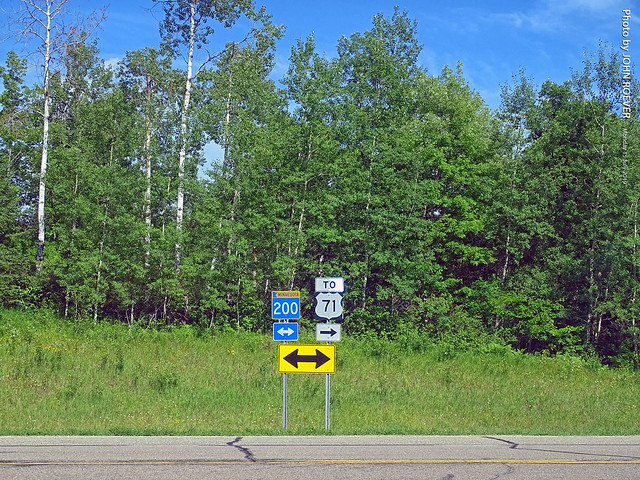 MN-200/US-71 signs near Itasca St Park, 15 July 2019