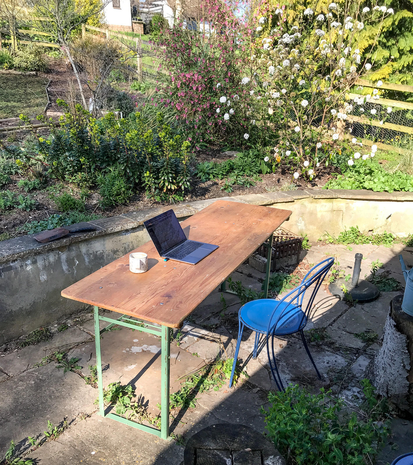 Working from garden