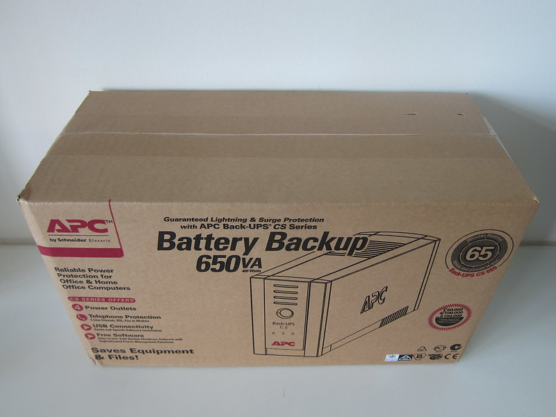 APC BACK-UPS BK650-AS USB 650VA - Box Front