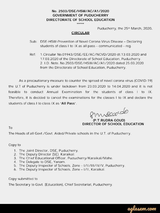 All Class 1 to 9 Students In Puducherry To Pass Without Annual Exams: Official Notice