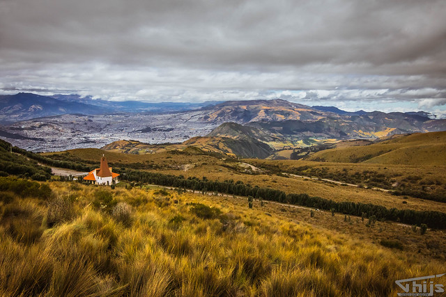 Church on the vulcano (landscape) @ Quito, Ecuador