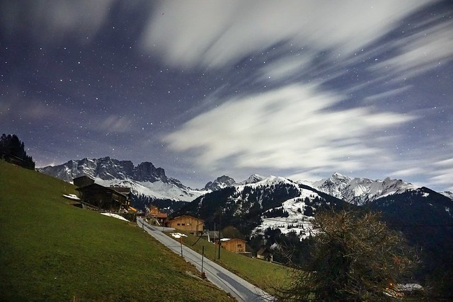 Sleepless night in the Swiss Alps
