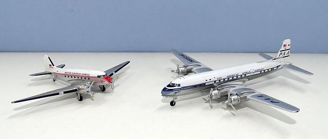 BEA Douglas DC-3 and Pan Am Douglas DC-6B