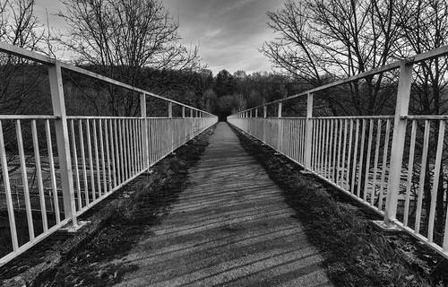 landscape derbyshire chesterfield blackwhite monochrome a61 footbridge