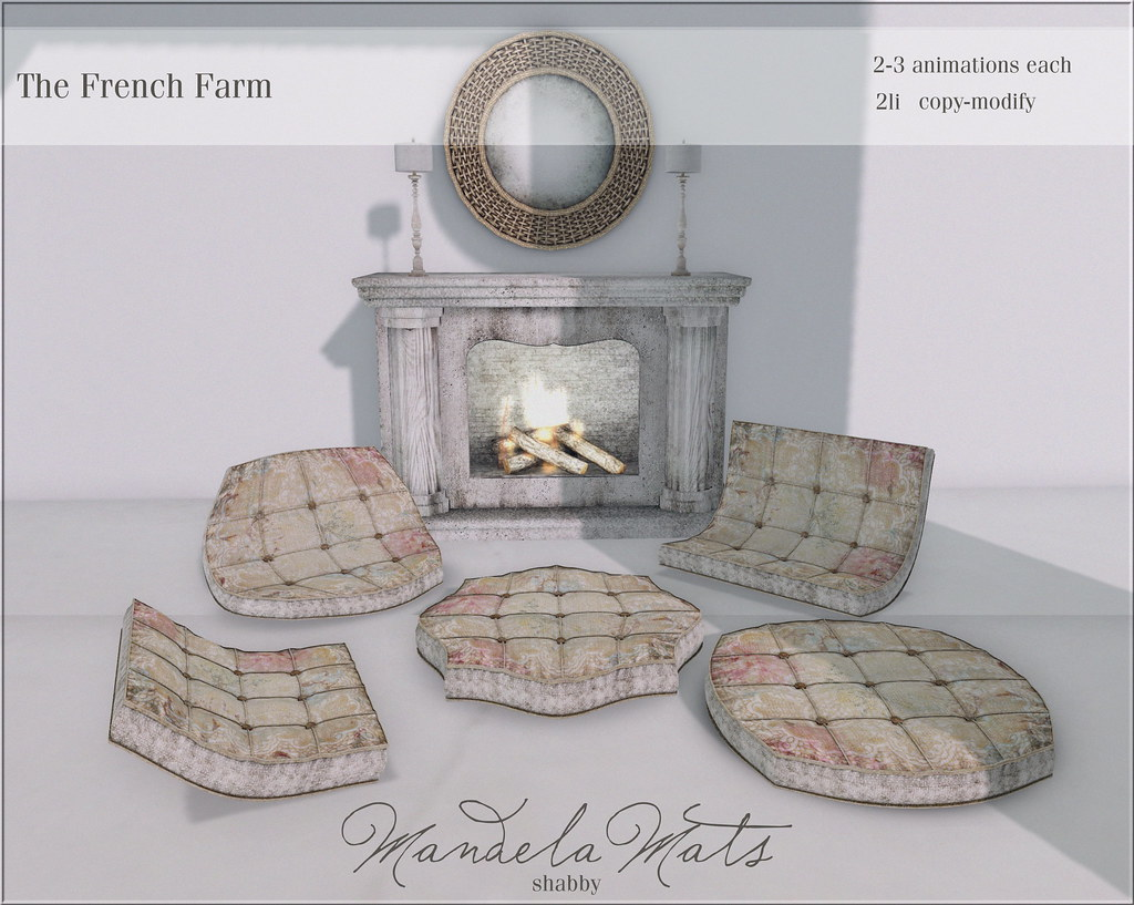 The French Farm-mandela mat shabby