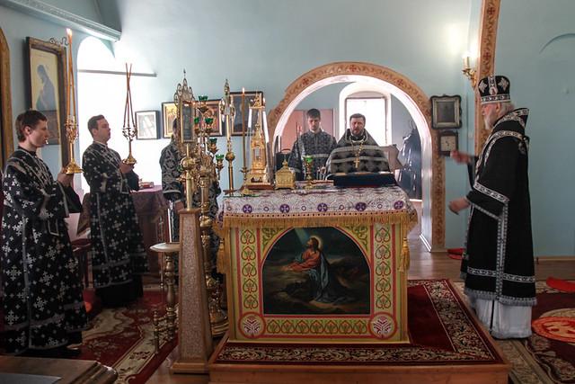 Архиерейское богослужение в Михайловском храме Курска_25.03.2020