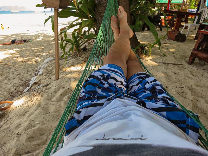 Relaxing in my hammock