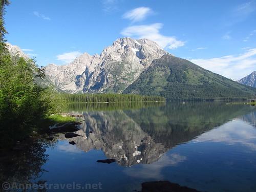 Mt. Moran reflected in Leigh Lake, Grand Teton National Park, Wyoming