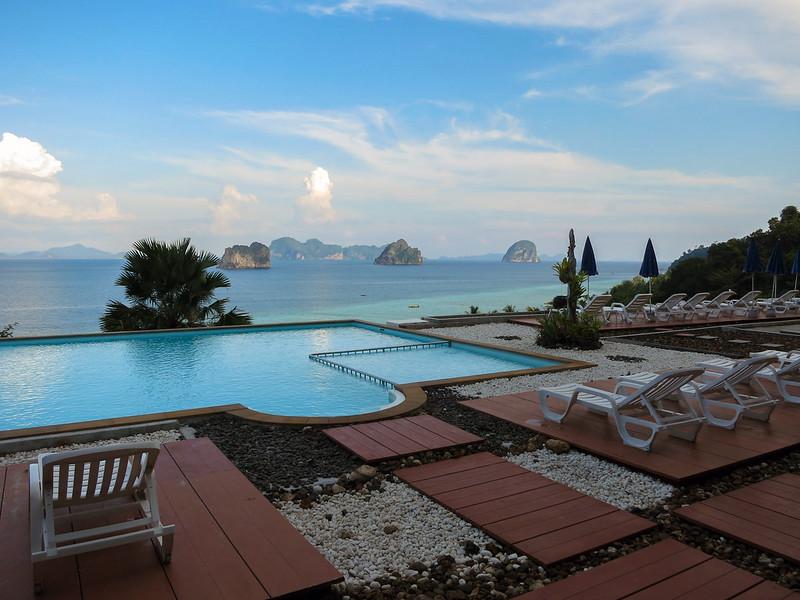 Pool area at Koh Ngai Cliff Resort