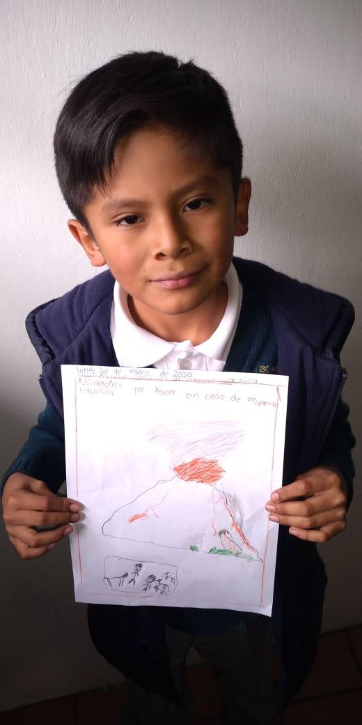 3ro de Primaria. Aprendiendo como actuar ante una erupcion volcánica