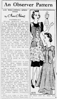 Anne Adams 1939 4315 apron