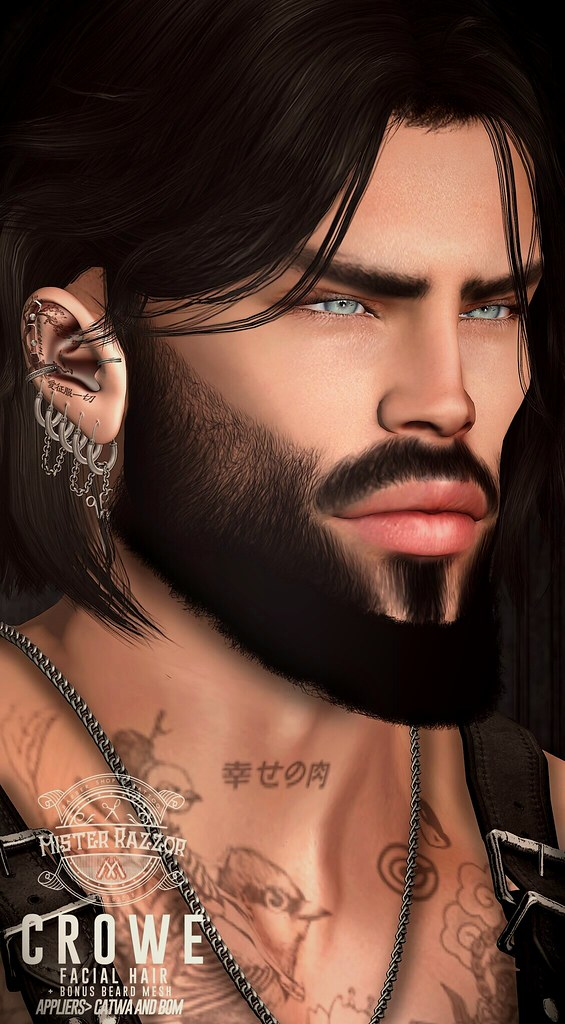 ((Mister Razzor)) Crowe Facial Hair + Bonus Beard Mesh