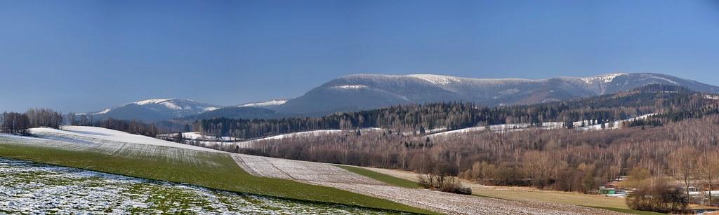 Early spring under the mountains Jeseníky Mts.