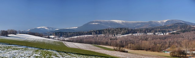Early spring under the mountains Jeseníky Mts.