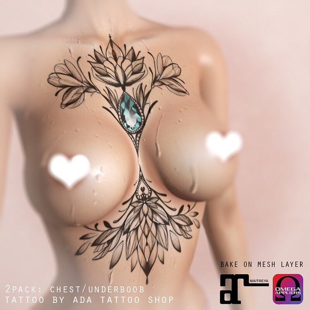 ADA Tattoo Shop FLORAL ORNAMENTS chest/underboob PACK (BoM, OMEGA, MAITREYA)