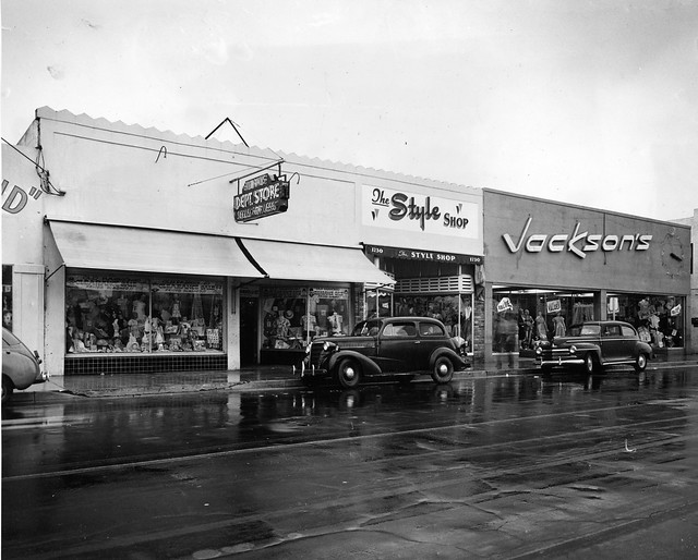 Allapattah Business Section With Jackson's Department Store Press Photo 1951
