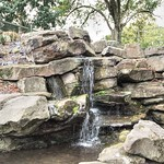 Mini waterfall in Moor Park, Preston