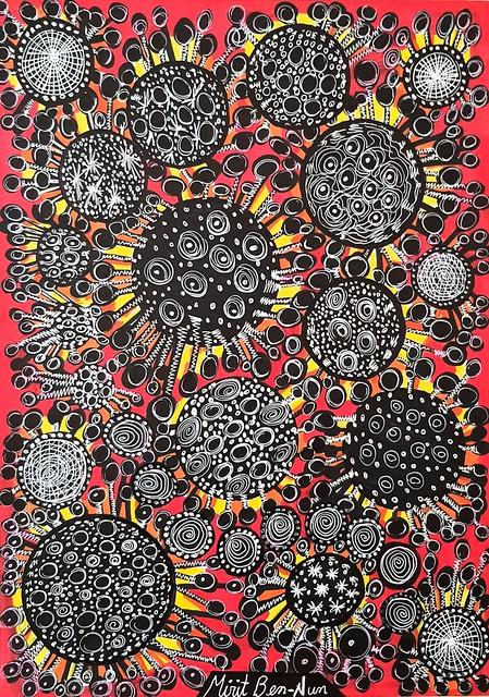Corona virus drawings and paintings from Israel