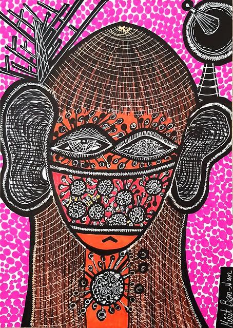Corona virus paintings by Mirit Ben-Nun
