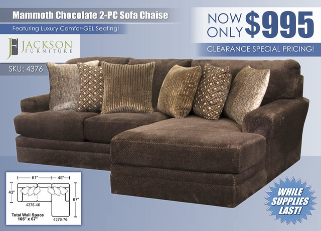 Mammoth Chocolate 2 Piece Sectional_4376