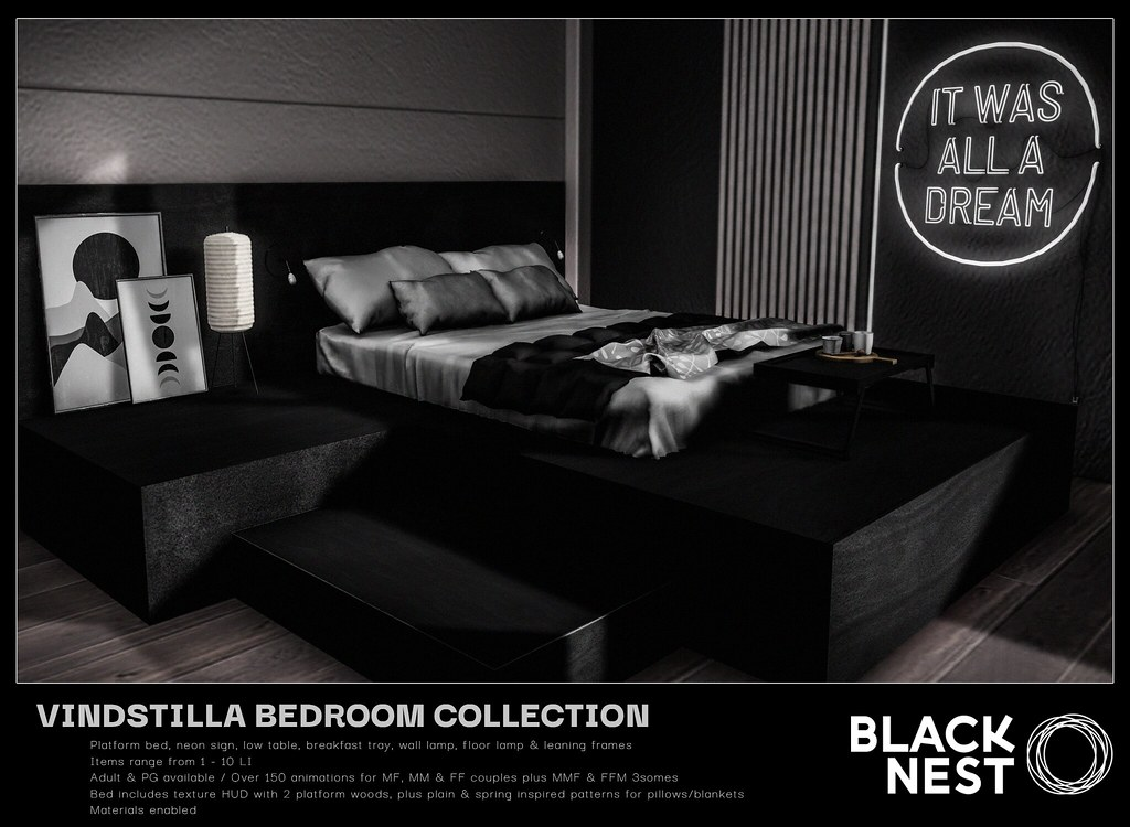BLACK NEST / Vindstilla Bedroom Collection / Uber