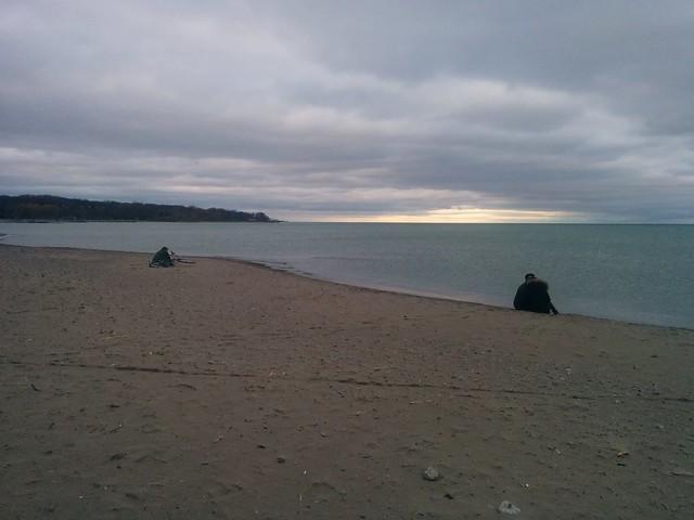 Sitting by the shore #toronto #woodbinebeach #beach #lakeontario #latergram