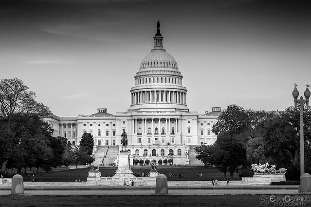 US Capitol BW