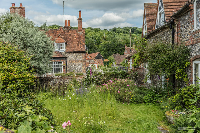 Charismatic flint-fronted cottages and informal gardens, in the village of Hambleden, in the beautiful, wooded Chiltern Hills.
