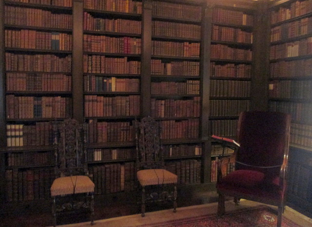 Drum Castle, library, Aberdeenshire, Scotland