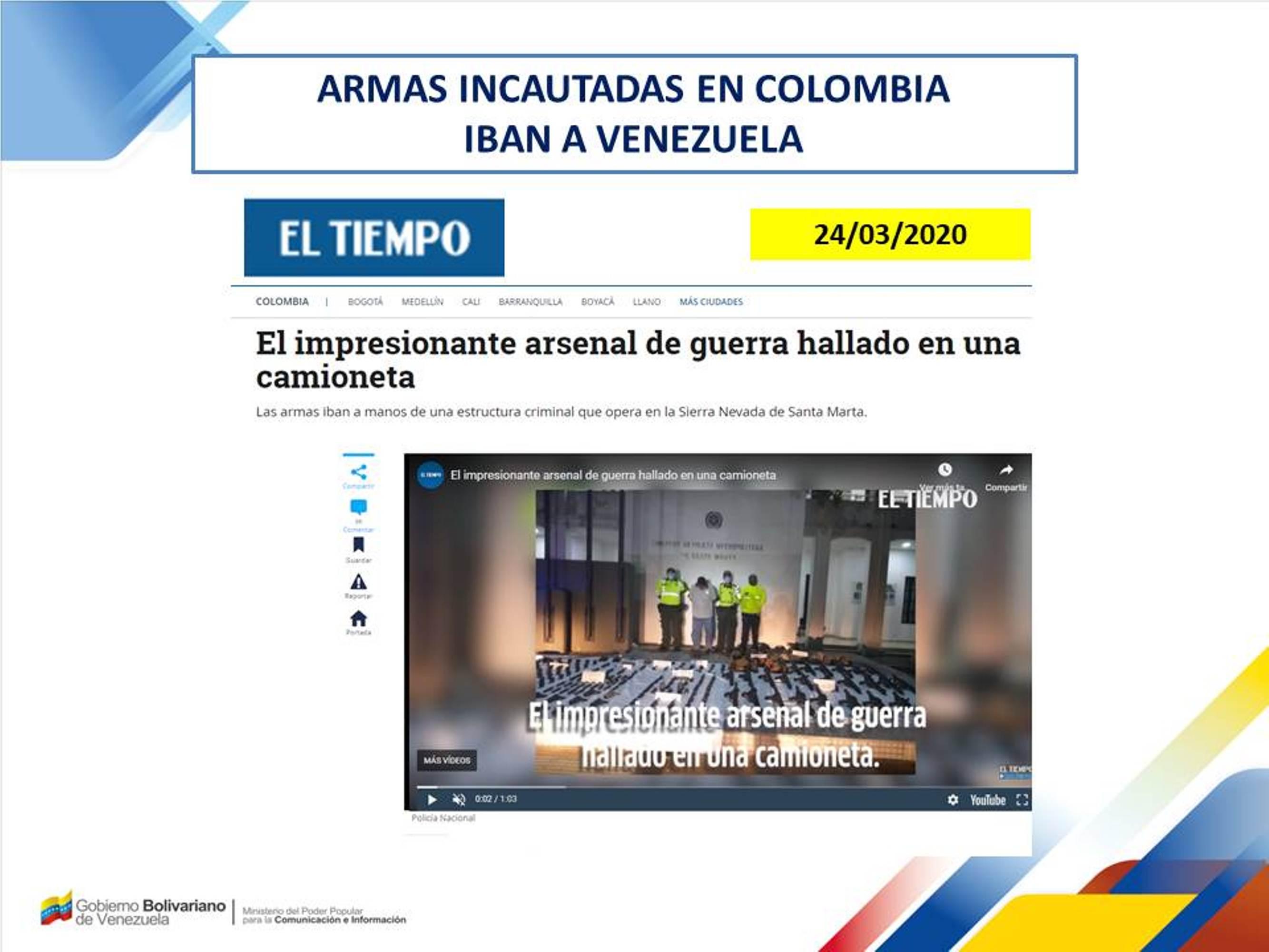Vicepresidente Rodríguez: Solicitamos a la ONU que conmine a Colombia para que explique objetivo de grupos terroristas