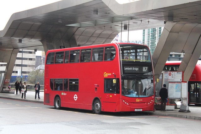 London General EH1, LX58DDJ - Route 87   Vauxhall Bus Station