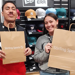 Newly opened store in Queensgate Mall with staff Cruz and Taryn showing their love for the environment with paper bags.