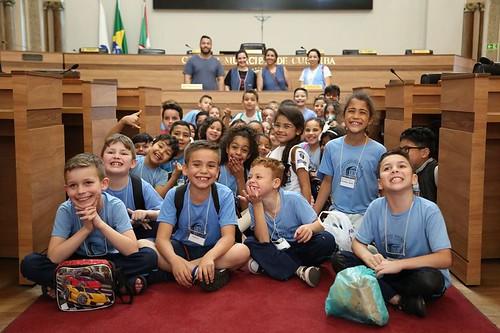 Visitas de estudantes à Câmara de Curitiba