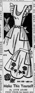 Anne Adams 1947 4874 apron