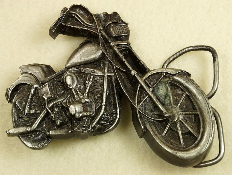 RD28374 Vintage 1979 Harley Motorcycle Bergamot Brass Works Belt Buckle I-39 DSC01638