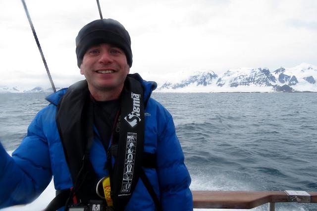 Me on the boat to Ny-Ålesund