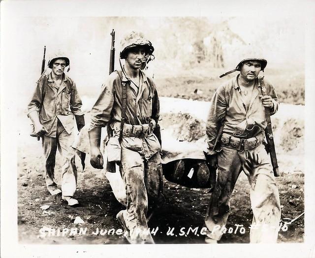 WWII, KIA, Saipan, Dead Body, Marines