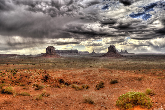 Dramatic scene in Monument Valley - Arizona - USA