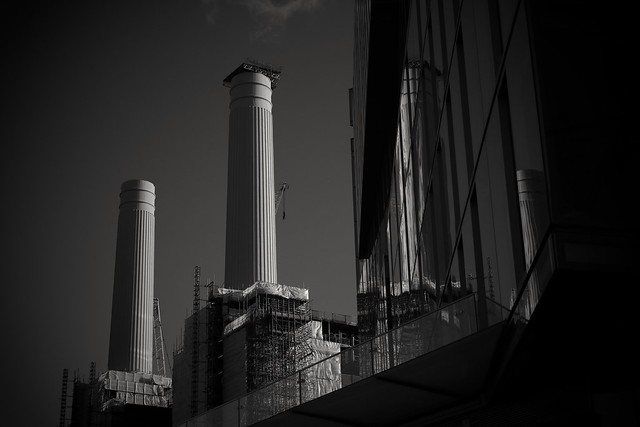 Reflections at Battersea Power Station