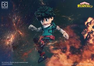 攻入日系英雄的首款作品終於登場! HEROCROSS H.M.F. 系列《我的英雄學院》綠谷出久 みどりや いずく 可動人偶 HMF#087