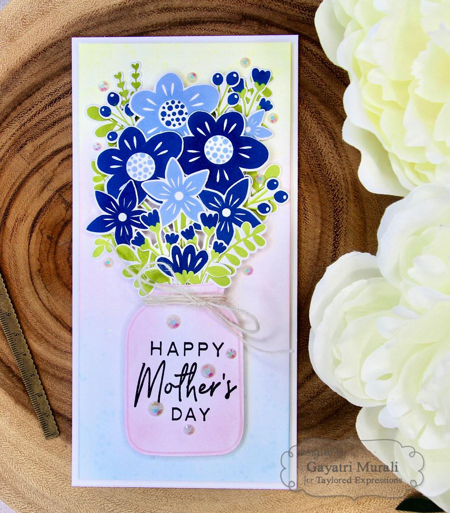 Gayatri - Bouquet Whimsy Card flat