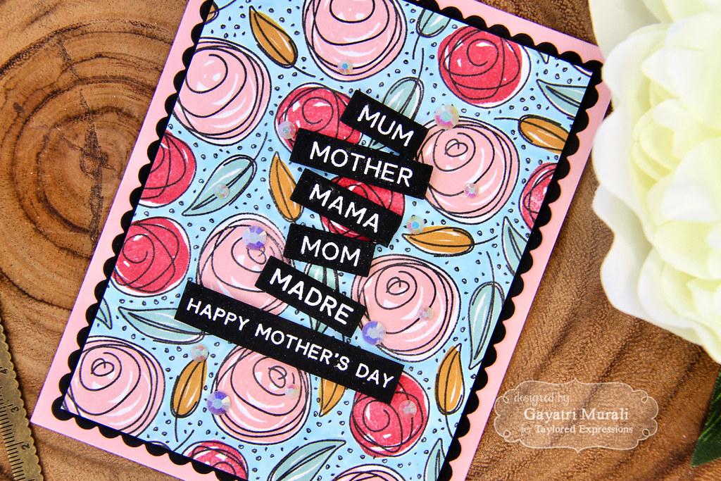 Gayatri Scribbled Rose card closeup3