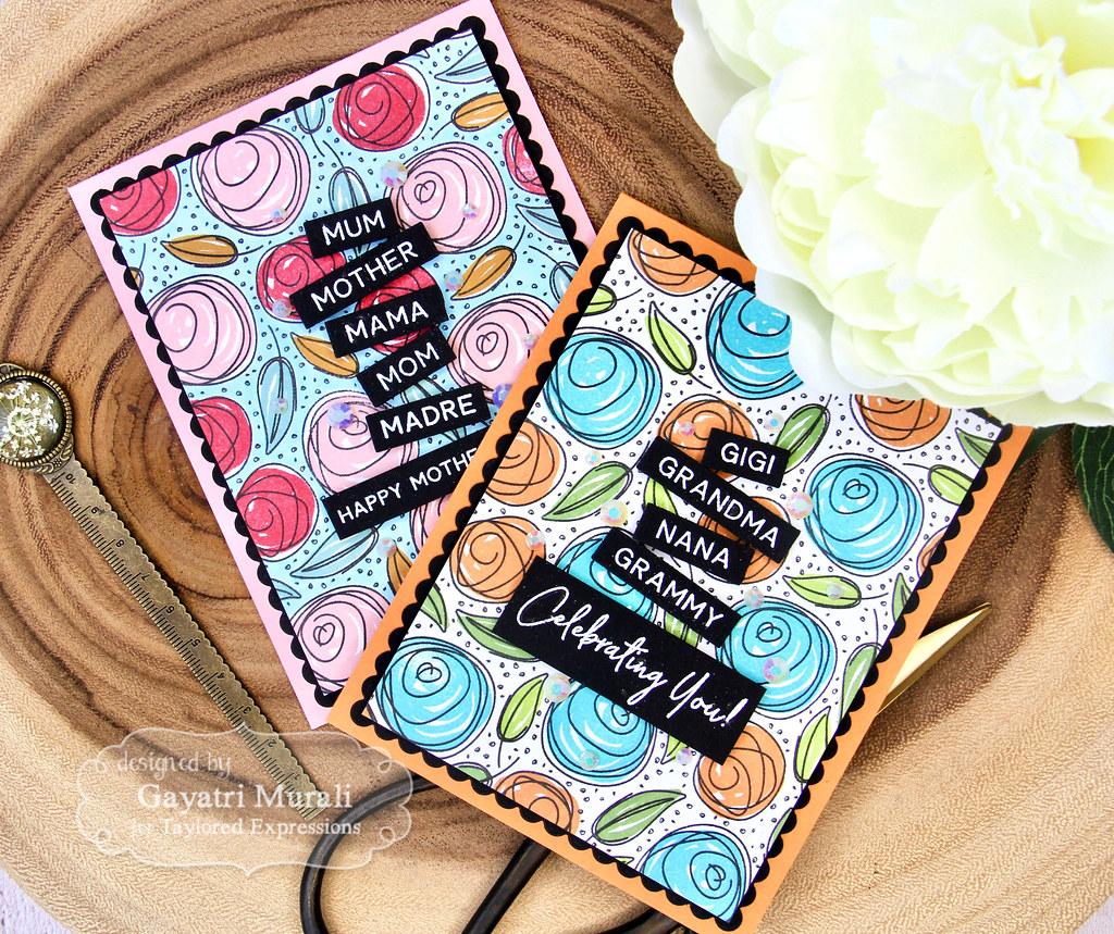 Gayatri Scribbled Rose card set