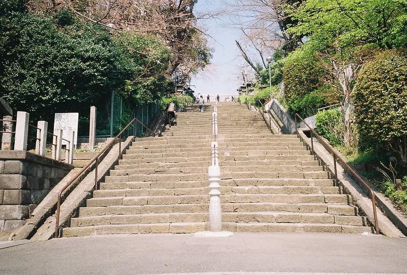2−29GR1s+ColorPlus200東京いい道しぶい道池上道本門寺の此経難持坂という96段の石段