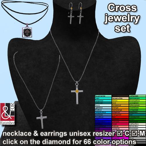 Cross jewelry set (diamond changes 66 colors)