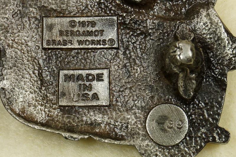 RD28374 Vintage 1979 Harley Motorcycle Bergamot Brass Works Belt Buckle I-39 DSC01641