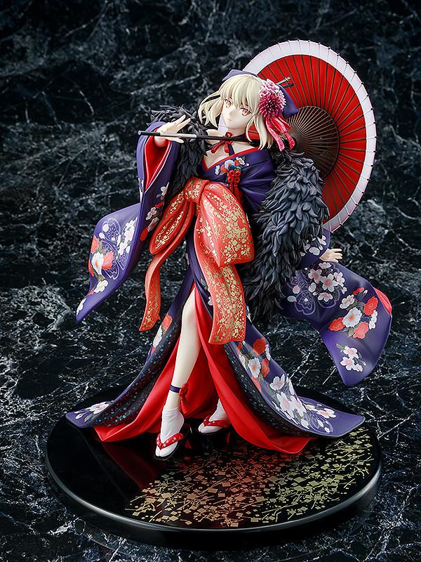 豔麗身影漫步夜櫻下 KDcolle《劇場版Fate/stay night [Heaven's Feel]》Saber Alter 和服Ver.(セイバーオルタ 着物Ver.) 1/7比例模型